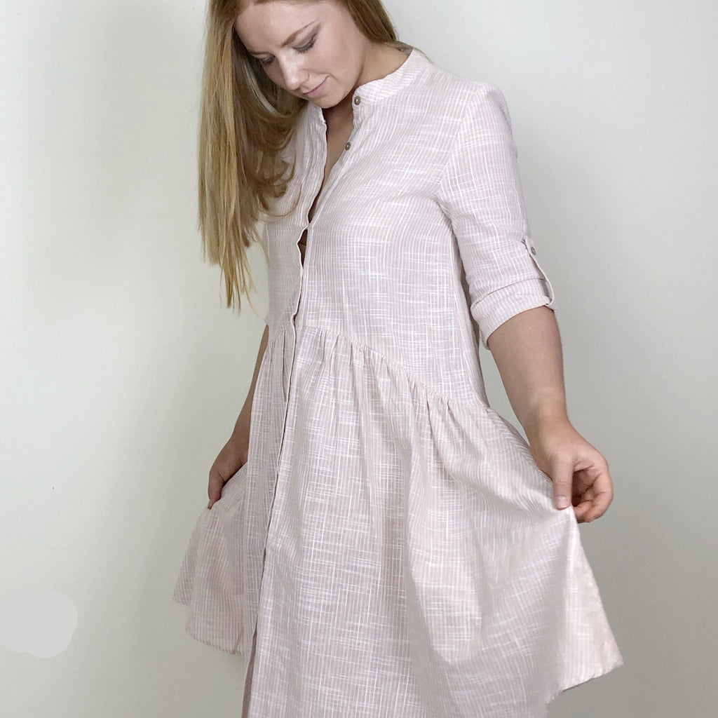Gretel Shirt Dress Blush