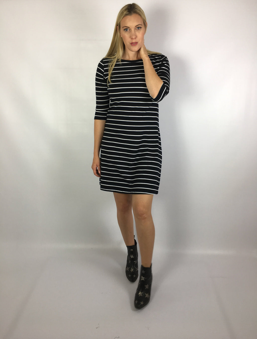 Poppy Stripe T Shirt Dress