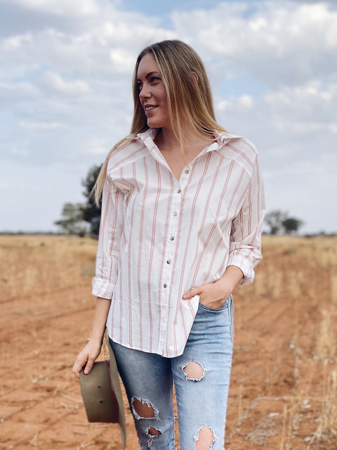 Mina Shirt Blush Stripe