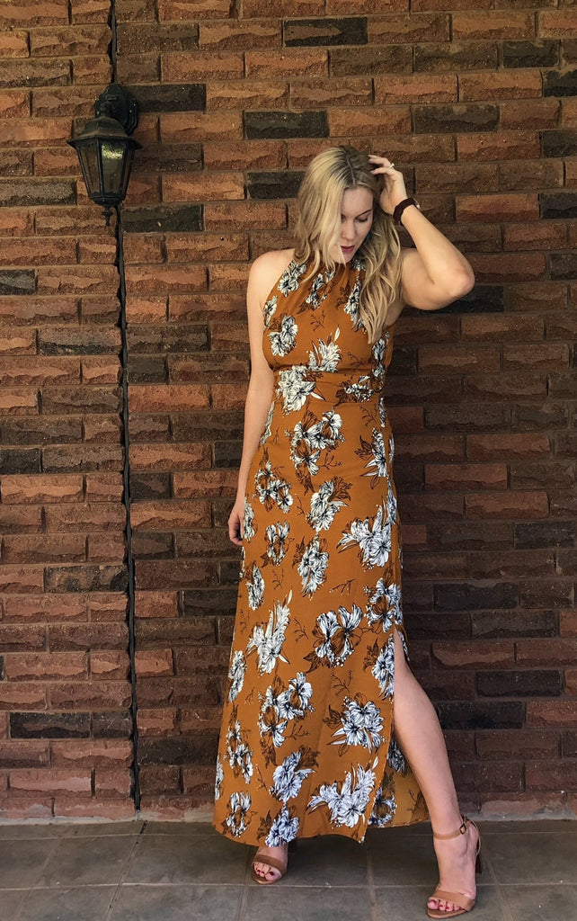 Peggy Maxi Dress Mustard