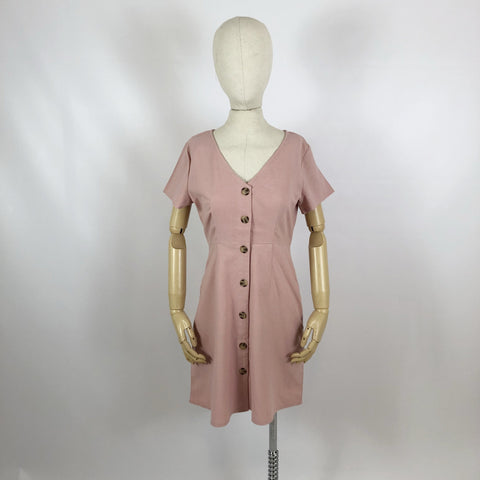 Tina Linen Dress Blush