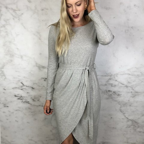 Beanie Long Sleeve Jersey Dress