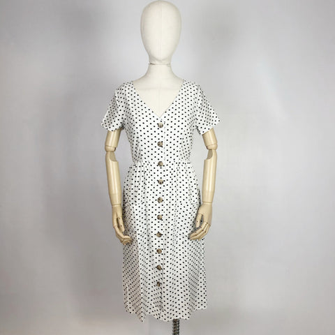 Beth Dress White Spot