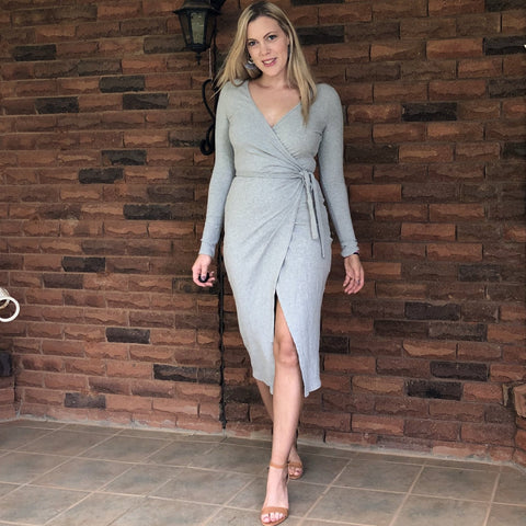 Julia Jersey Dress Grey