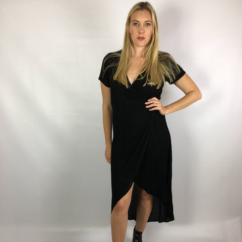 Annie Wrap Dress Black