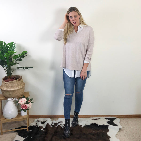 Kiki Knit Jumper Latte
