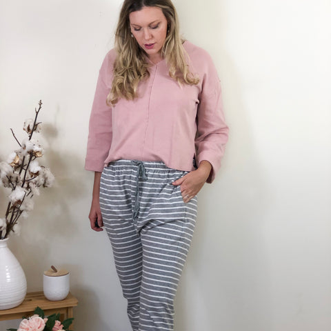 Stormi Slouch Pants Grey Stripe