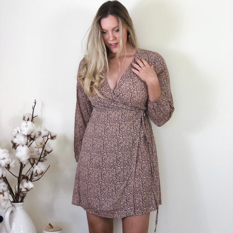 Wilma Wrap Dress Blush