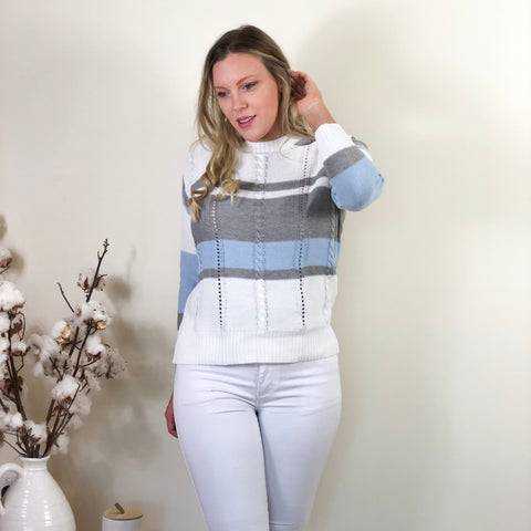 Meg Jumper Ice Blue