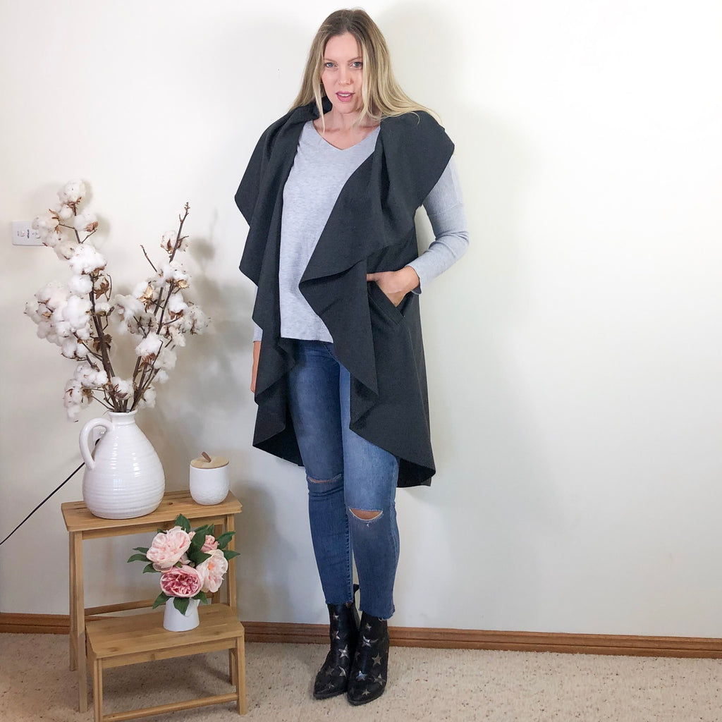 Dianne Cape Charcoal