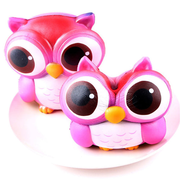 15cm Lovely Pink Owl Cream Scented Squishy Slow Rising Squeeze Toys Collection