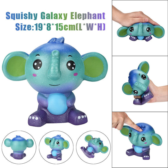 Jumbo Cute Galaxy Elephant Squishy Scented Cream Super Slow Rising Squeeze Toys