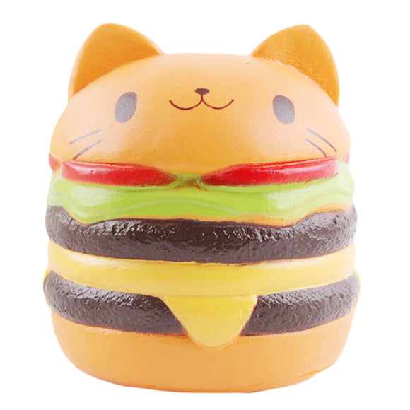Jumbo Squishy Slow Rising Scented Cat Hamburger