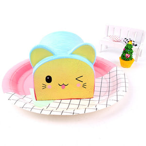Squishy Cartoon Cat Bread Scented Cream Slow Rising Squeeze Decompression Toy