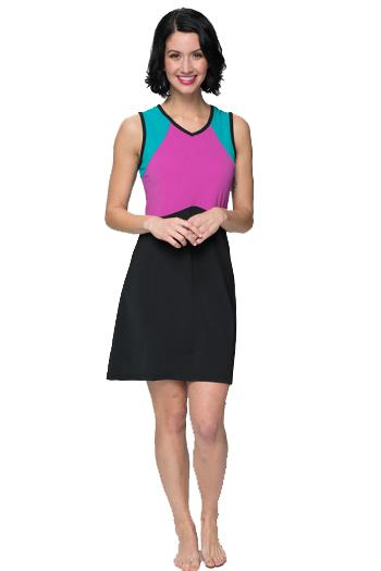 Sleeveless Colorblock Swim n' Tennis Dress