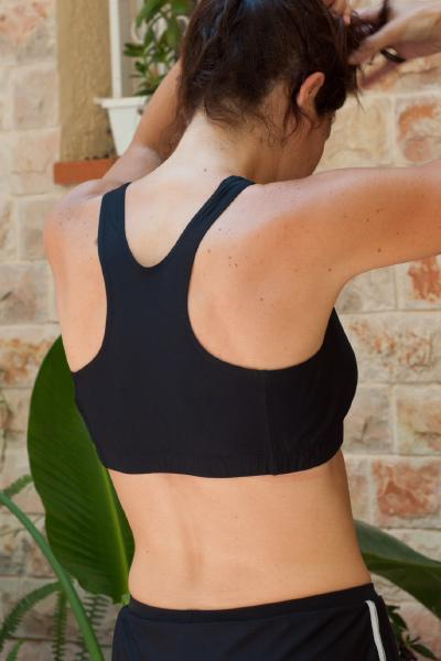 Black Sports Bra - Racer Back