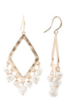 White Water Drop Earrings