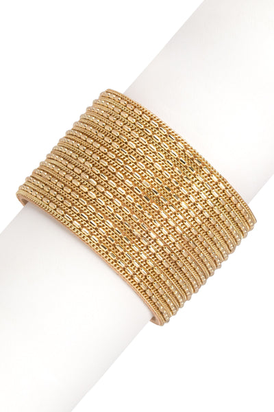 Tall Red Carpet Cuff in Gold
