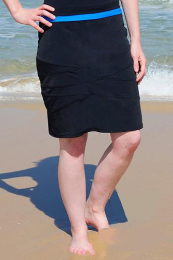 Triangle Spliced Swim Skirt