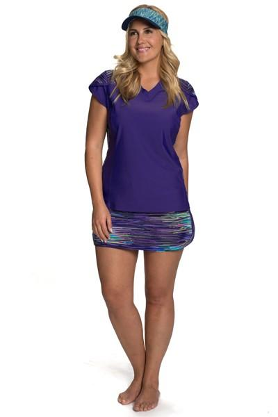 Running Riot Swim Skort with Hidden Shorts