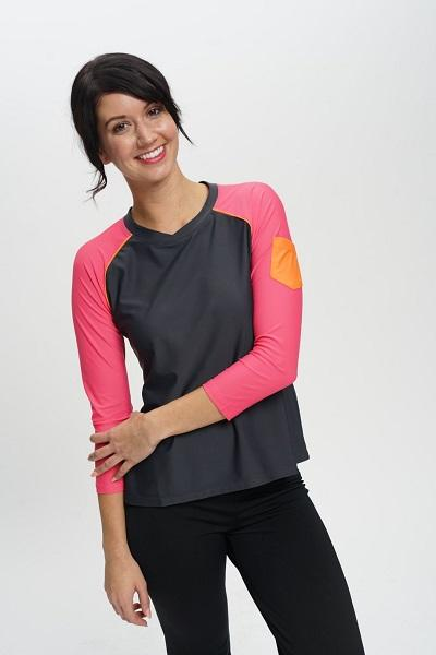 La Playa 3/4 Long Sleeve Rash Guard and  Running Shirt