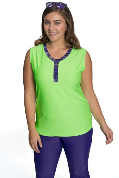 Bahamas Breeze Sleeveless Swim Top