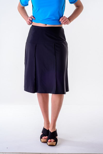 "Sea Breeze Figure Flattering Drop Waist Long Swim Skirt 24"" (with attached leggings)"