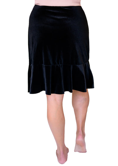 Bella Holiday Velvet Skirt 22.5""