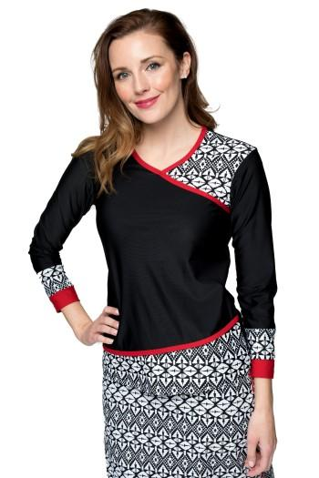 Long Sleeve Yoga Wrap Top