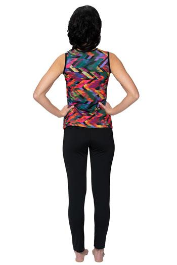 Sleeveless Crossover Swim Top - Chlorine Proof