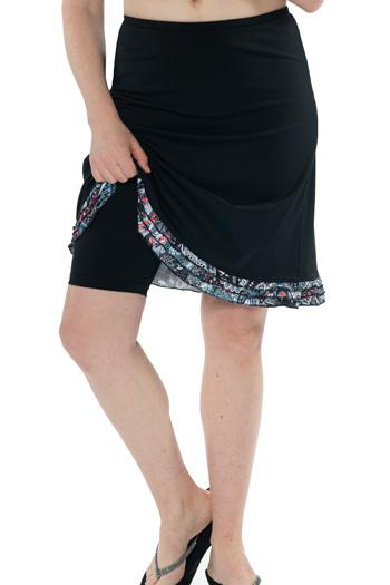 "Triple Ruffle Swim Skirt 21"" - Chlorine Proof"