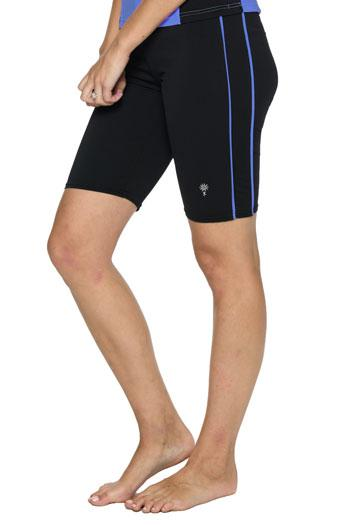 Swim Shorts with Accent Piping - Chlorine Proof