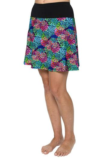 "Skater Skirt for Swim & Gym 18"" -  Chlorine Proof (with attached shorts)"