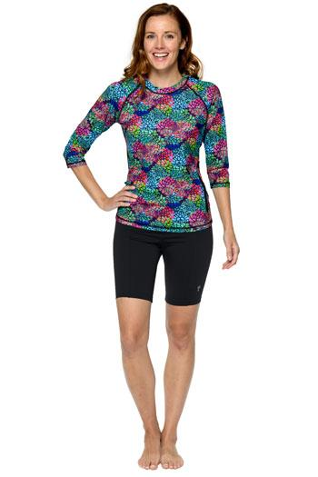 Aqua Pacific Fitness Modest Rash Guard - Chlorine Proof