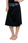 "Classic Long Water Skirt with Piping Accents 25"" - Chlorine Proof"