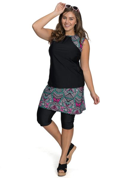 "AMPHI SPIRIT ATHLETIC SKIRTED CAPRIS 16"" for Swim and Sports"