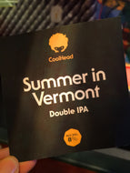 CoolHead Summer In Vermont Double IPA