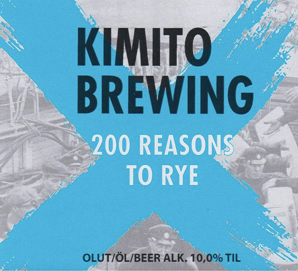 Kimito Brewing 200 Reasons to Rye