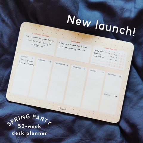 Spring Party: 52-Week Desk Planner