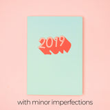 [BUNDLE: 2 FOR $22] Fresh Mint: 2019 Planner by Helumi (with minor imperfections)
