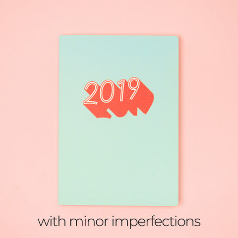Fresh Mint: 2019 Planner by Helumi (with minor imperfections)