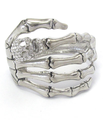 Skeleton Hand Bangle Bracelet