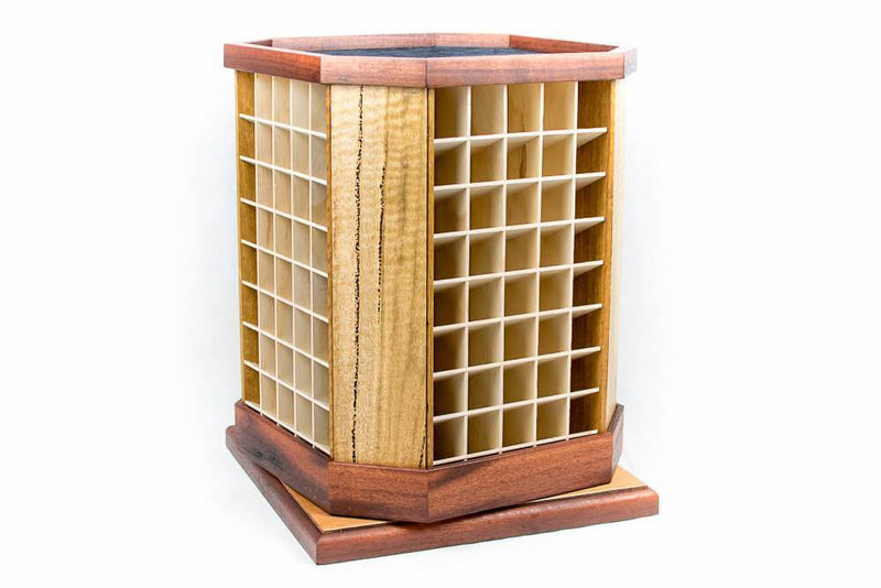 The Essential Tower, Essential oil display, Hidden Valley Wood