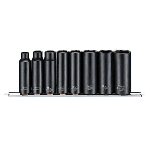 8PC 3/8inch Drive Impact Deep Socket Set Metric