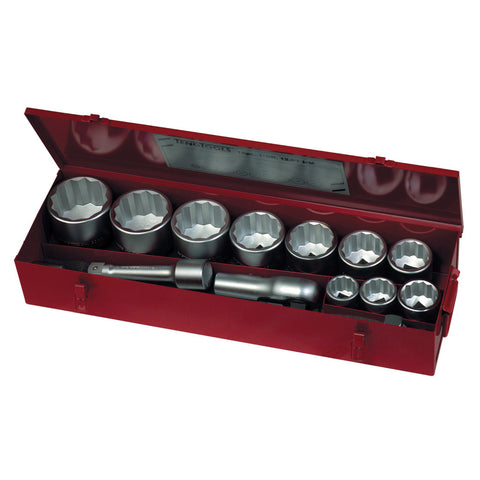 15PC 1 inch Drive Socket Set Metric