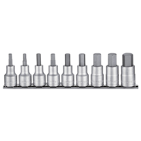 9PC Hex Bit Socket AF Set