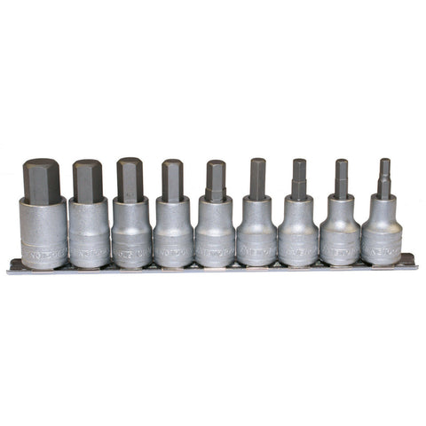 "9PC 1/2"" Drive Hex Bit Socket Set"