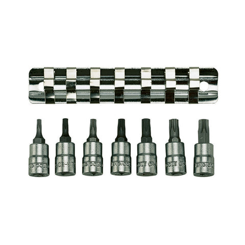 "7PC 1/4"" Drive Clip/Tx Bit Socket Set"