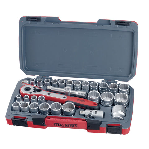 "30PC 1/2"" Drive Socket Set AF/MM"