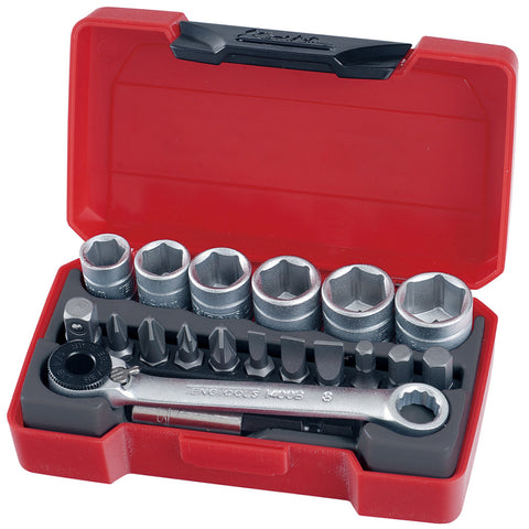 19PC 1/4'' Drive Socket Set
